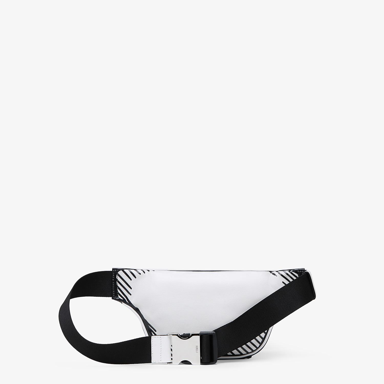 FENDI BELT BAG - White canvas belt bag - view 3 detail