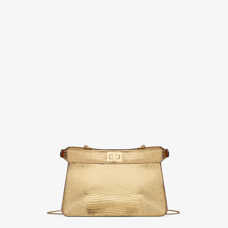 FENDI PEEKABOO ISEEU POCHETTE - Gold lizard leather bag - view 4 detail