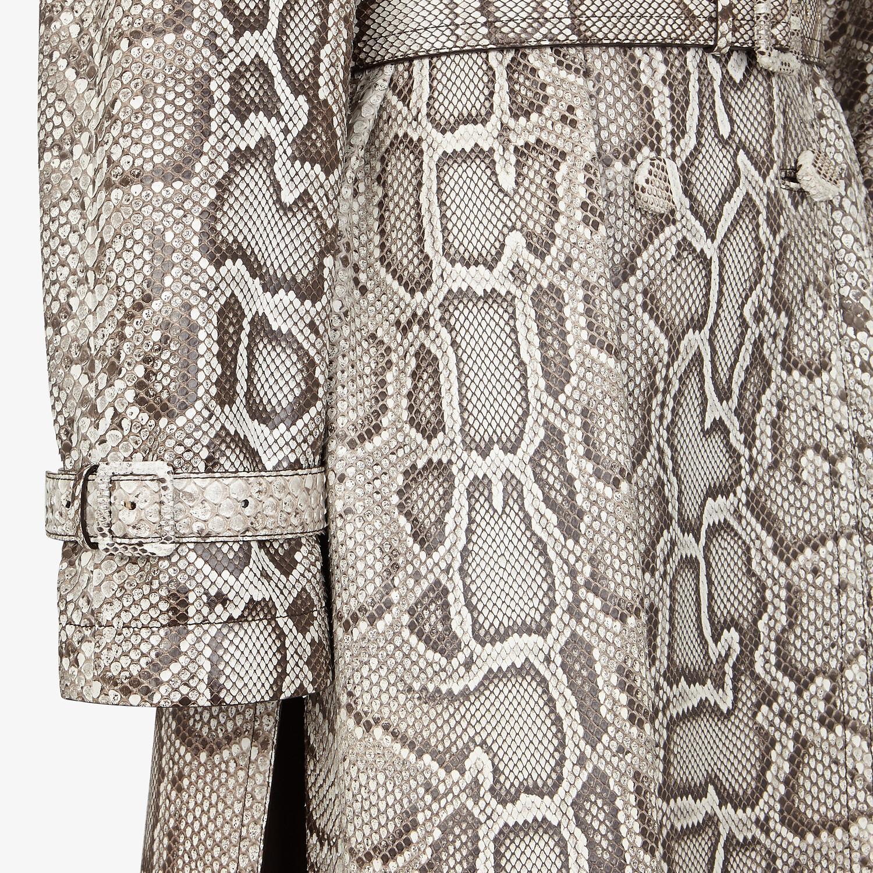 FENDI TRENCH COAT - Python trench coat - view 3 detail