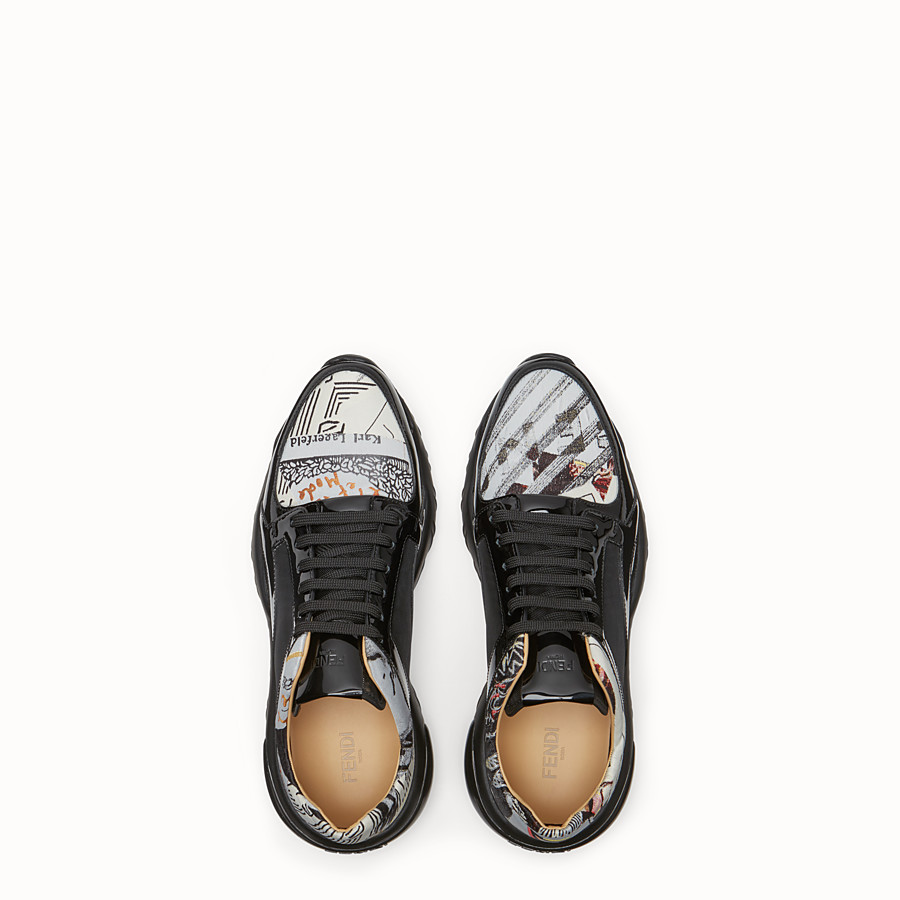 FENDI SNEAKERS - Multicolour fabric low top - view 5 detail