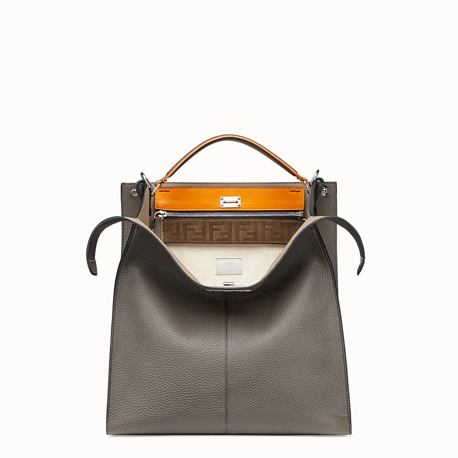 FENDI PEEKABOO X-LITE FIT - Gray leather bag - view 1 detail