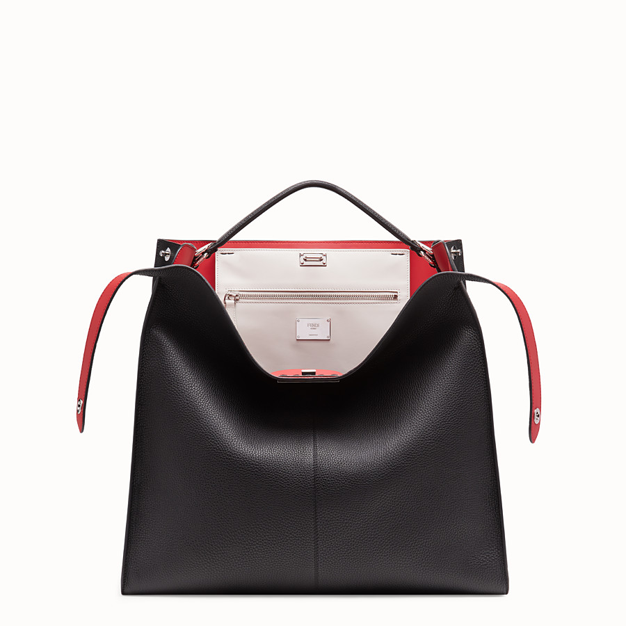 FENDI PEEKABOO X-LITE REGULAR - Black leather bag - view 1 detail