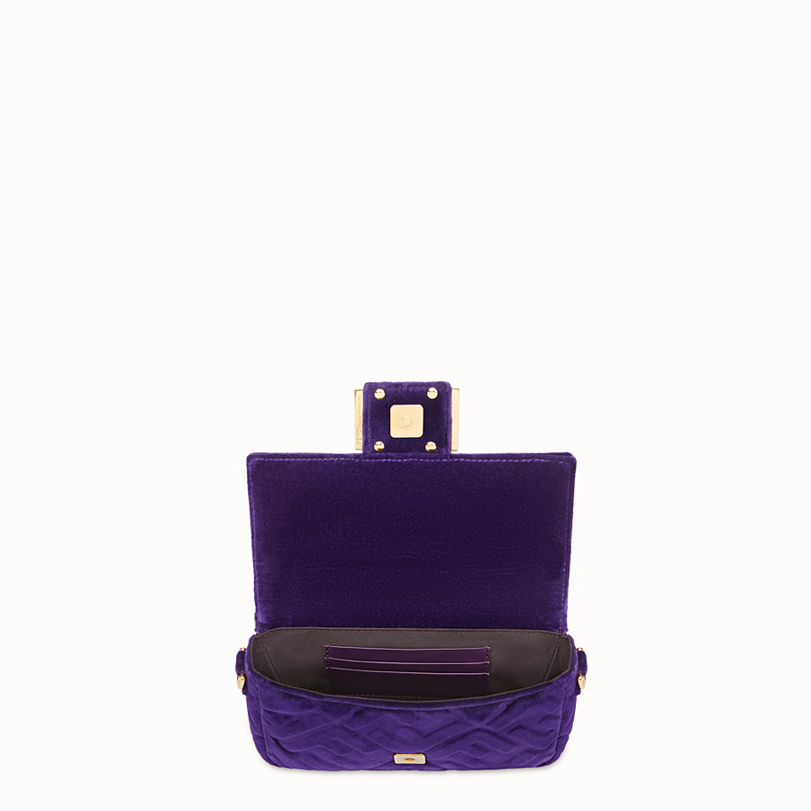 FENDI MINI BAGUETTE - Purple velvet bag - view 4 detail
