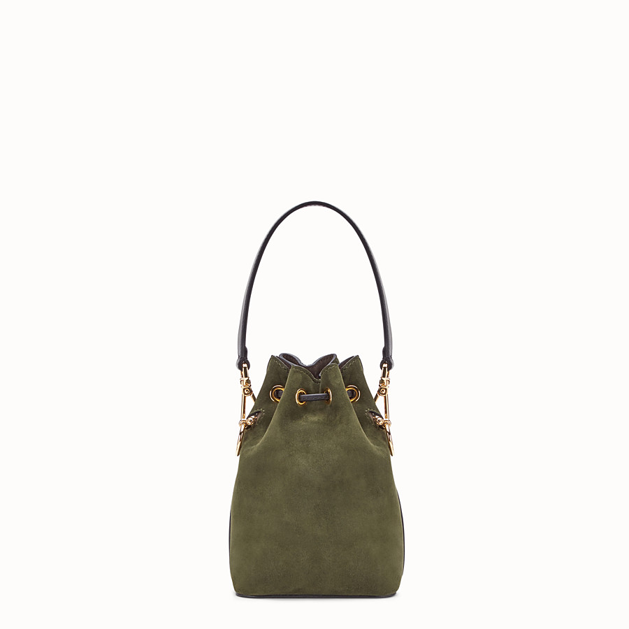 FENDI MON TRESOR - Green suede mini-bag - view 3 detail