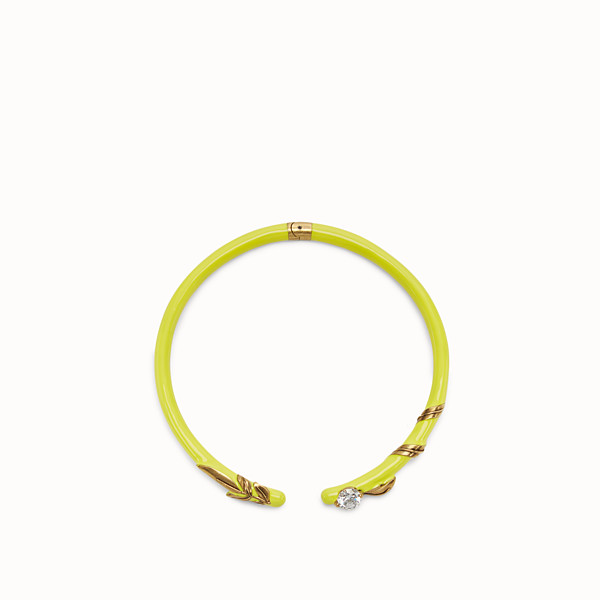 FENDI JULIUS CAESAR CHOKER - Yellow and gold coloured necklace - view 1 small thumbnail