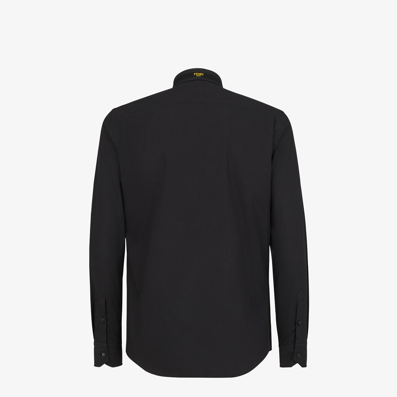 FENDI SHIRT - Black cotton shirt - view 2 detail