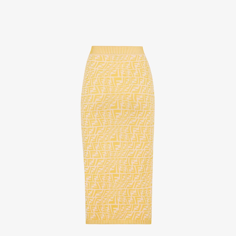 FENDI SKIRT - Yellow viscose skirt - view 2 detail