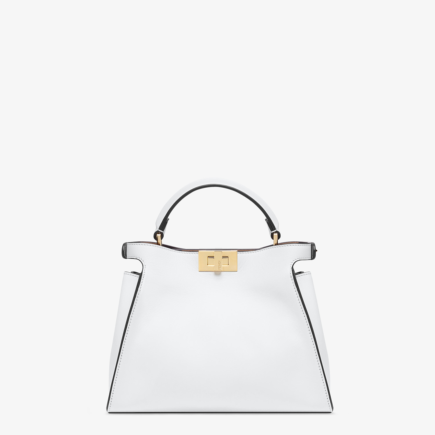 FENDI PEEKABOO ICONIC ESSENTIALLY - White leather bag - view 4 detail