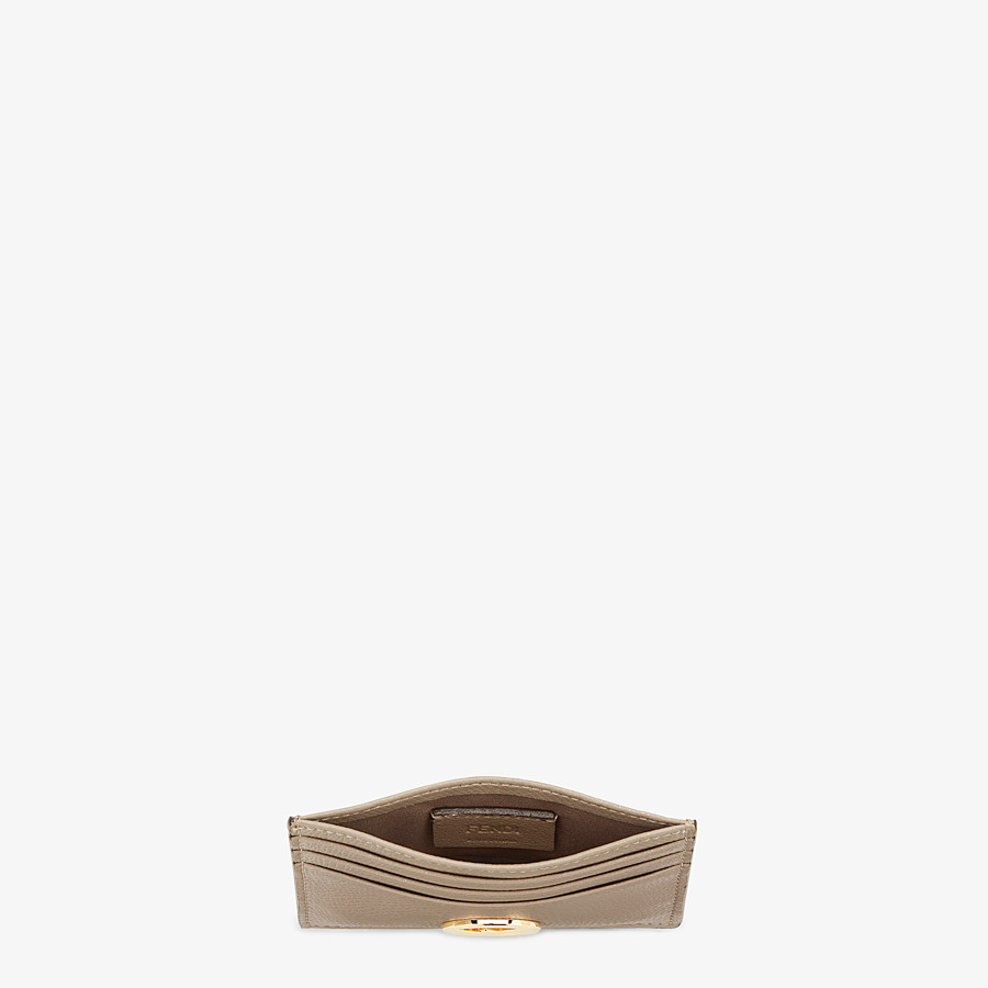 FENDI CARD HOLDER - Flat beige leather card holder - view 4 detail