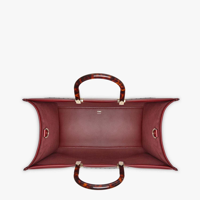FENDI SUNSHINE SHOPPER - Burgundy leather shopper - view 4 detail