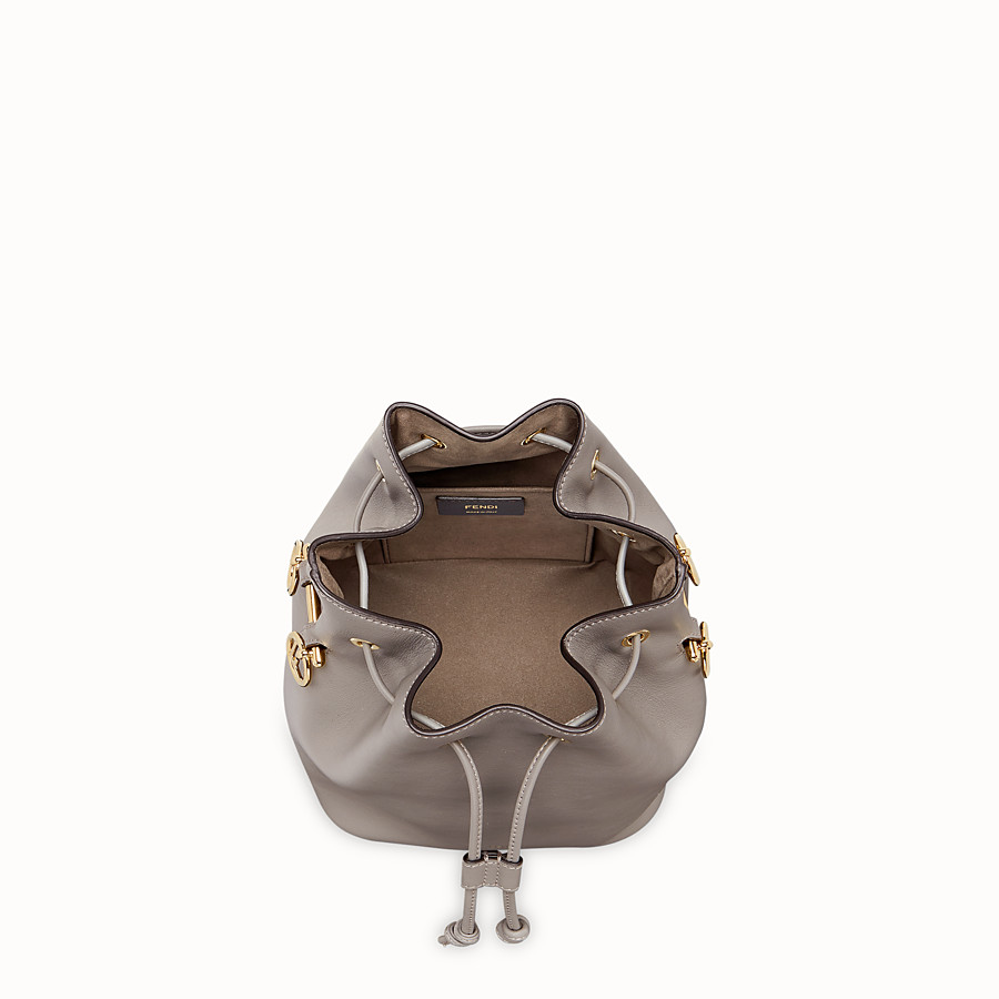 FENDI MON TRESOR - Gray leather bag - view 4 detail