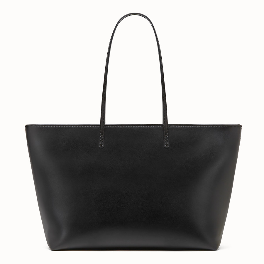 FENDI ROLL BAG - Bag Bugs black leather shopper bag - view 3 detail