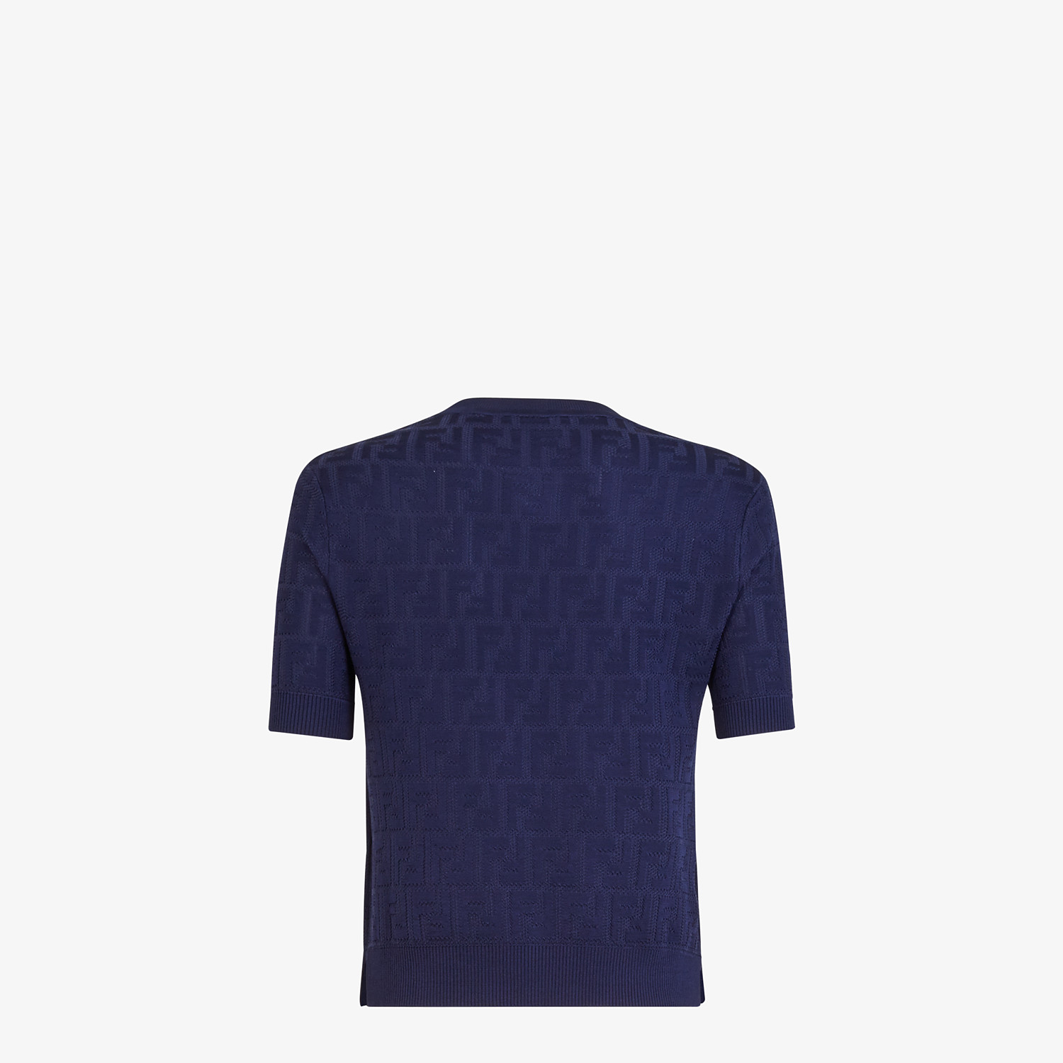 FENDI JUMPER - Blue cotton and viscose jumper - view 2 detail