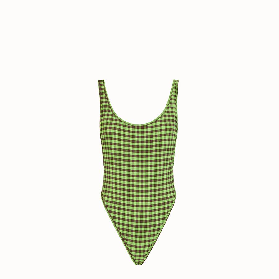 FENDI ONE-PIECE SWIMSUIT - Vichy Lycra® swimsuit - view 1 detail