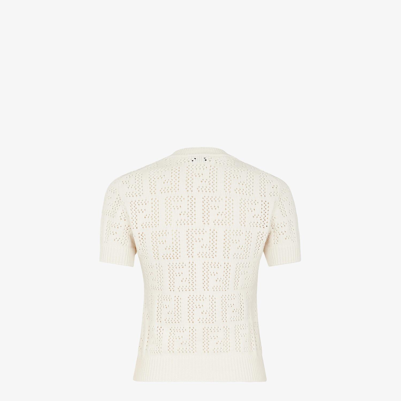 FENDI 套頭毛衣 - 白色棉質毛衣 - view 2 detail