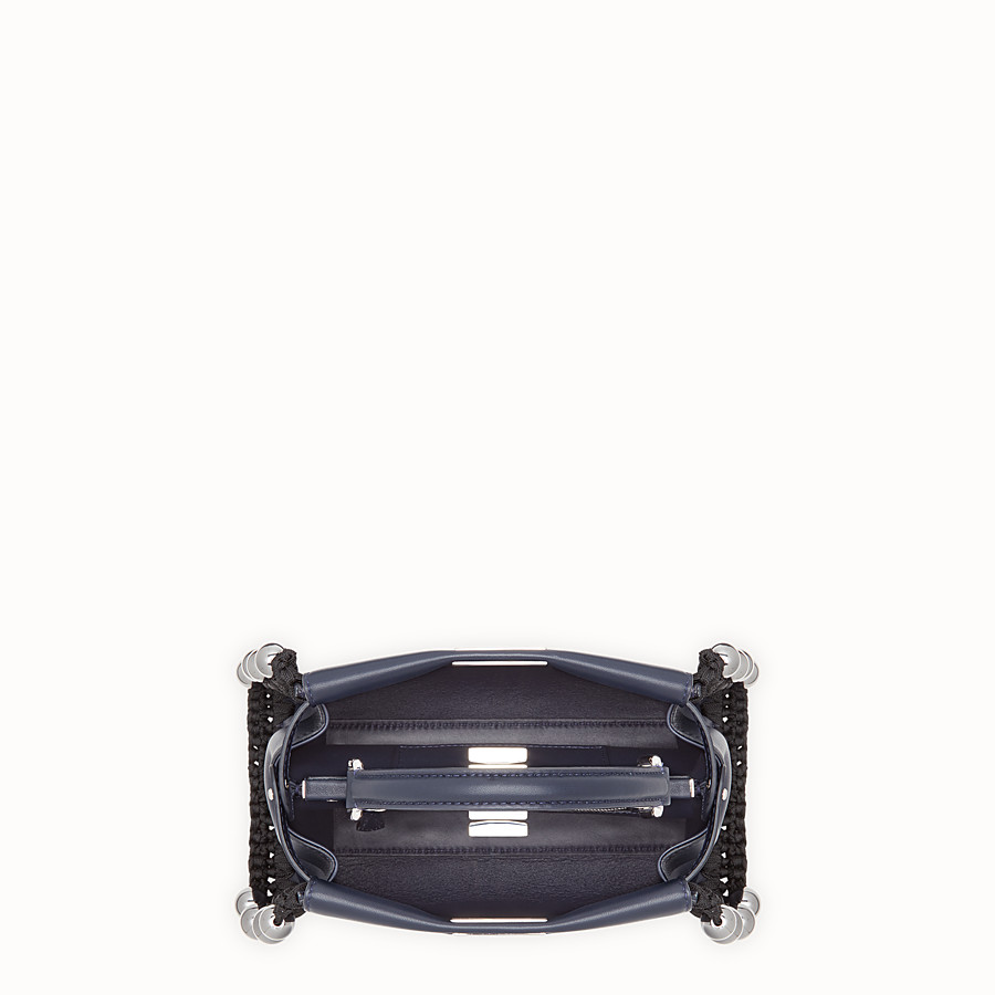 FENDI PEEKABOO MINI - Blue nappa bag - view 4 detail