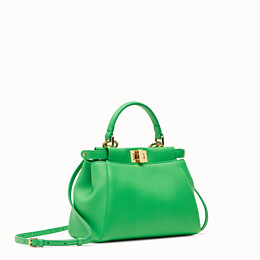 FENDI PEEKABOO ICONIC MINI - Green nappa leather bag - view 2 thumbnail