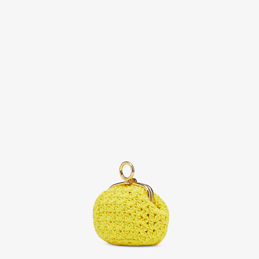 FENDI COIN PURSE - Yellow lace coin purse - view 2 detail