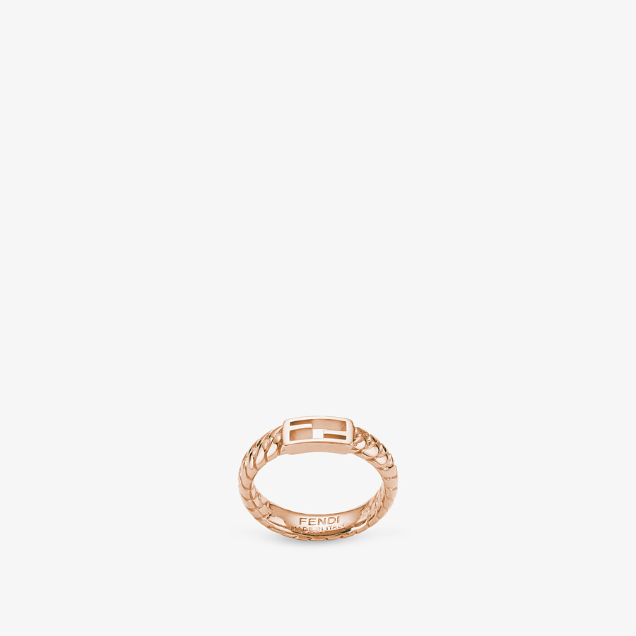 FENDI BAGUETTE RING - Rose-gold ring - view 1 detail