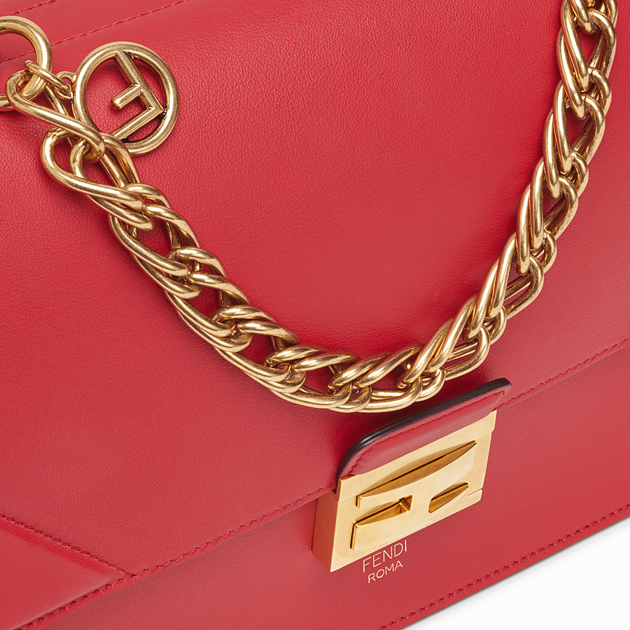 FENDI KAN U - Red leather bag - view 6 detail