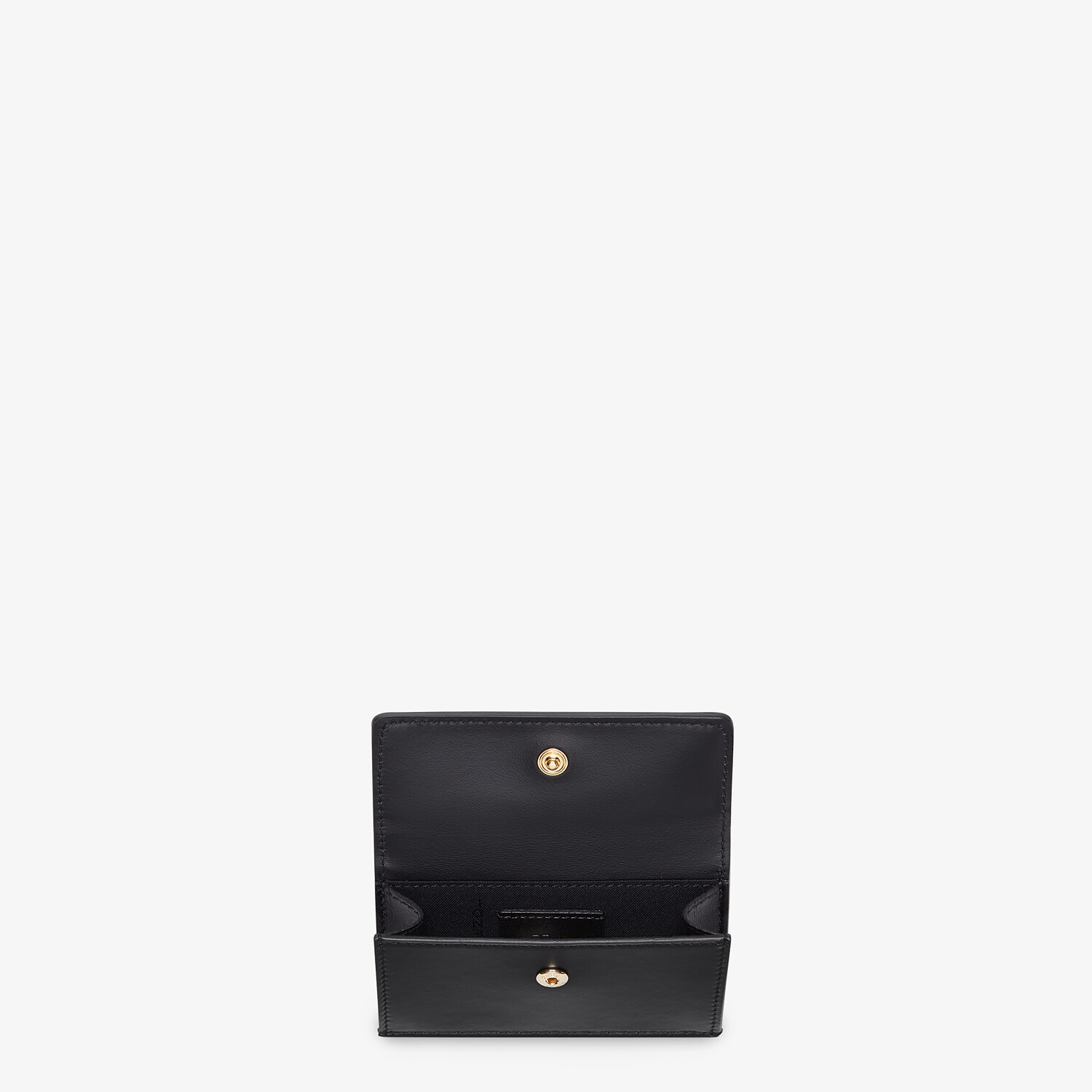 FENDI CARD HOLDER - Black leather cardholder - view 3 detail