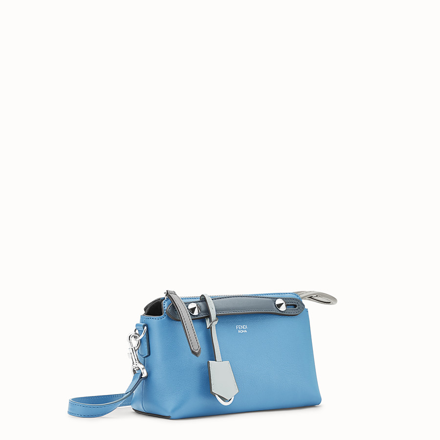 FENDI BY THE WAY MINI - Small light blue leather Boston bag - view 2 detail