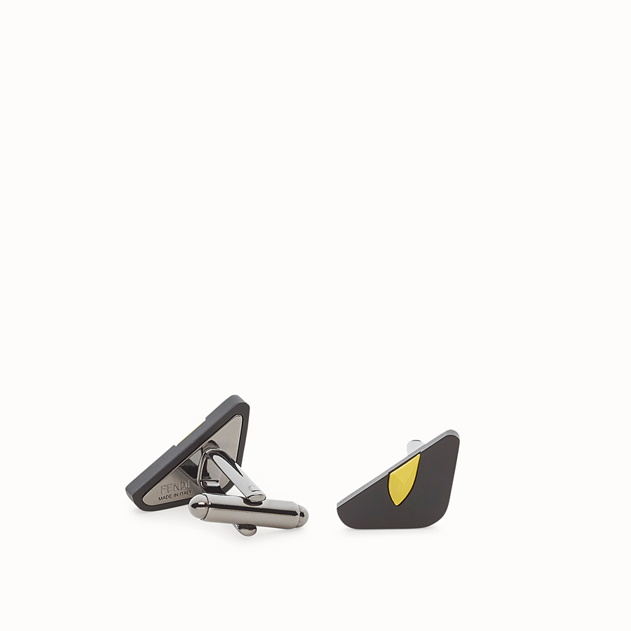 FENDI CUFFLINKS - Yellow cufflinks - view 1 detail