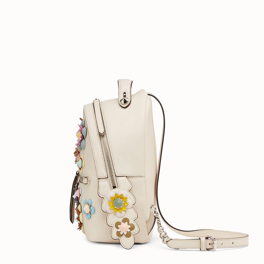 FENDI 背包 - 白色皮革,綴有花朵 - view 2 detail