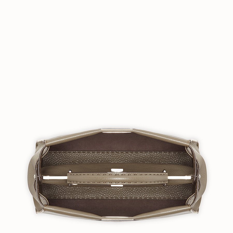 FENDI PEEKABOO LARGE - Green leather bag - view 4 detail