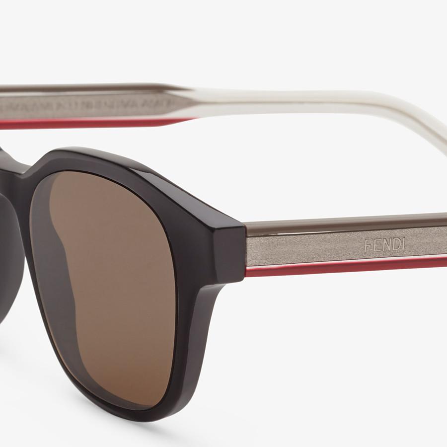 FENDI ROMA AMOR - Black sunglasses - view 3 detail