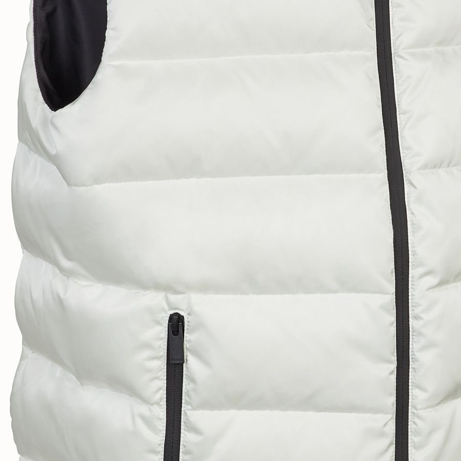 FENDI GILET - Black nylon gilet - view 3 detail