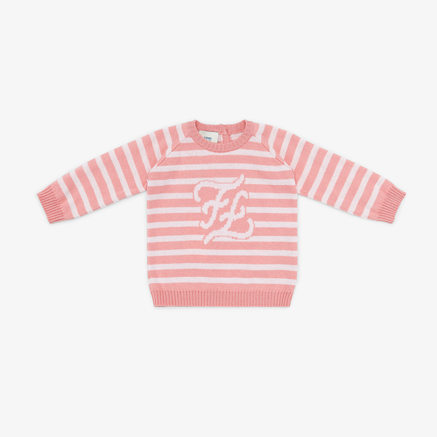 FENDI KNITTED BABY sweater - Knitted baby sweater with inlay - view 1 detail