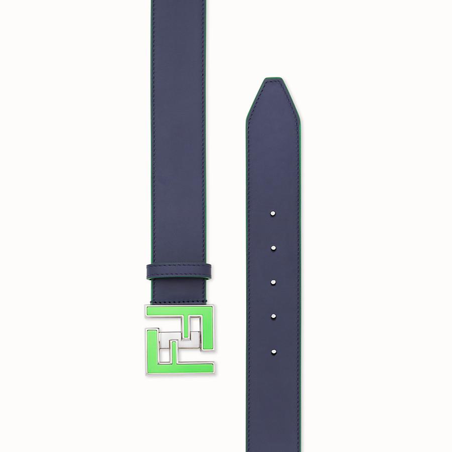 FENDI BELT - Purple leather belt - view 2 detail
