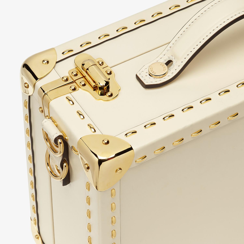 FENDI TRAVEL CASE SMALL - White leather suitcase - view 5 detail