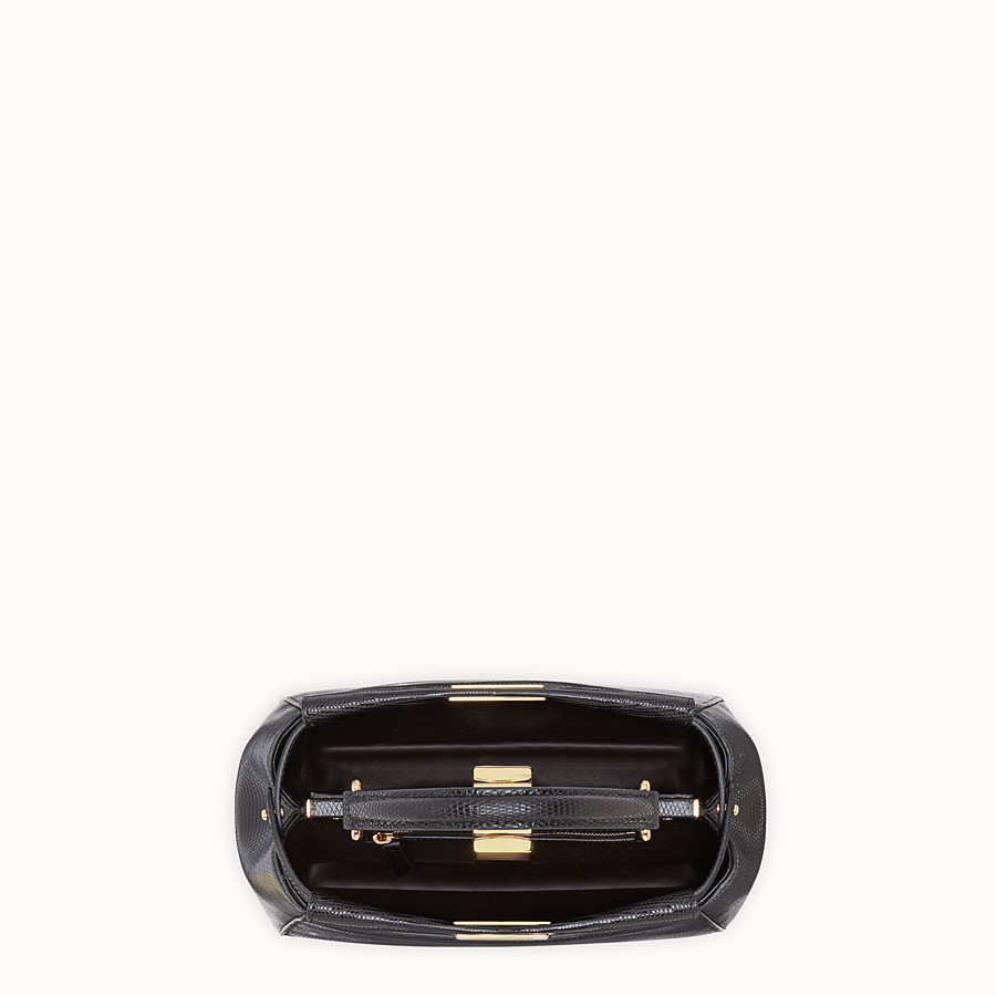 FENDI PEEKABOO MINI - Black lizard bag - view 5 detail