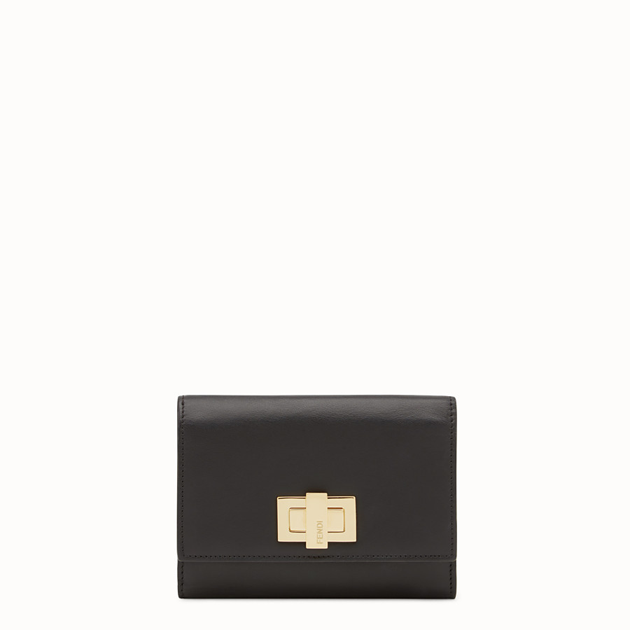 FENDI CONTINENTAL MEDIUM - Medium continental wallet in black leather - view 1 detail