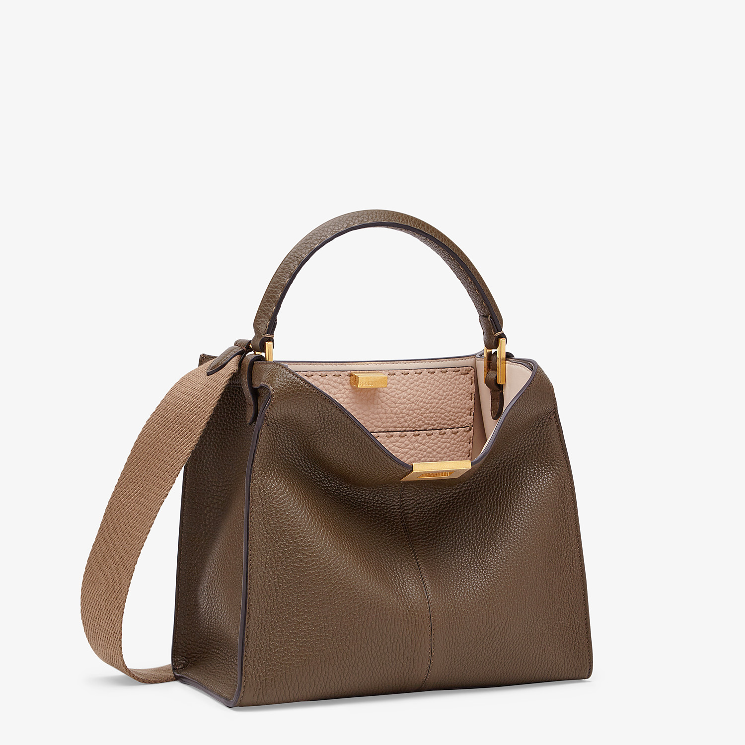 FENDI PEEKABOO X-LITE MEDIUM - Brown Selleria bag - view 3 detail