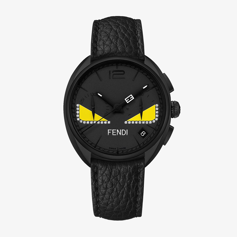 FENDI MOMENTO FENDI BUGS - Chronograph watch with diamonds and strap - view 1 detail