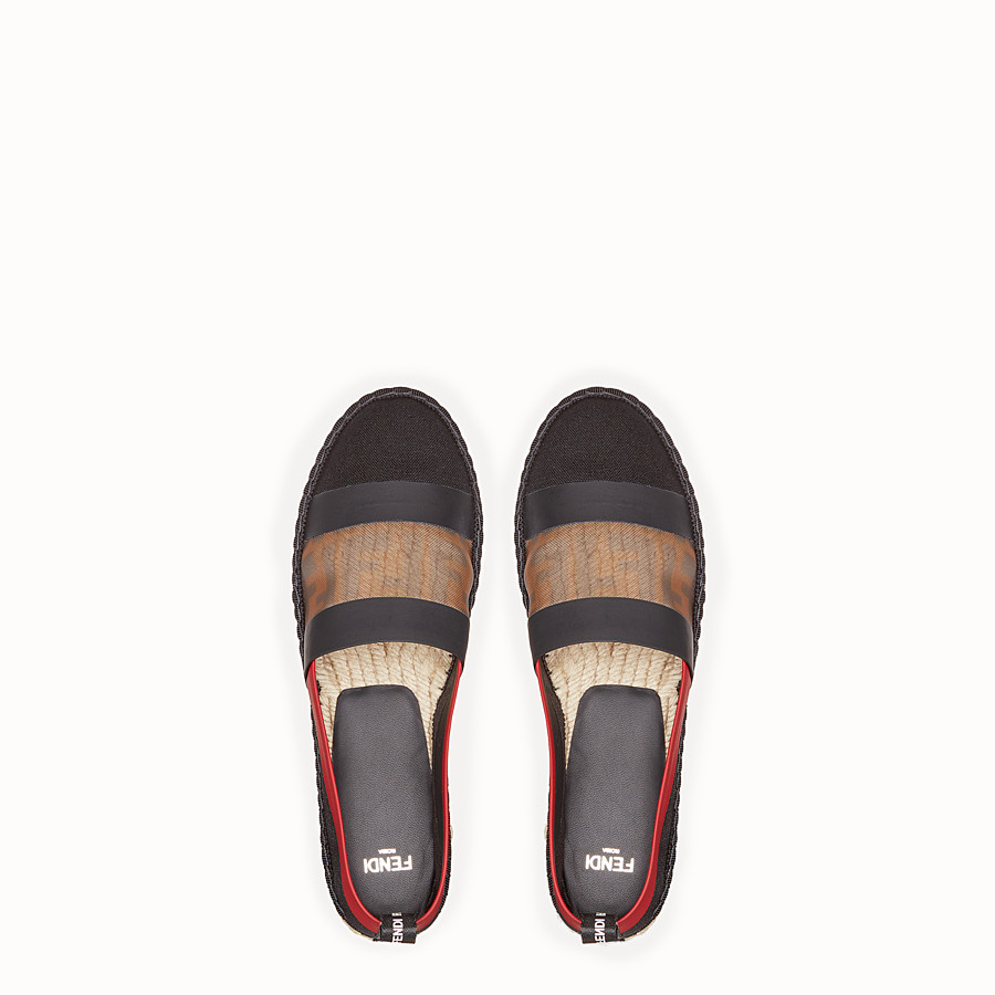 FENDI ESPADRILLES - Black canvas espadrilles - view 4 detail