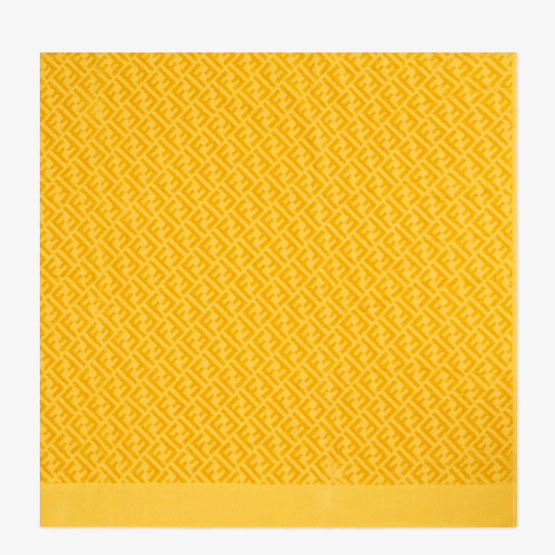FENDI BEACH TOWEL - Yellow cotton beach towel - view 3 detail