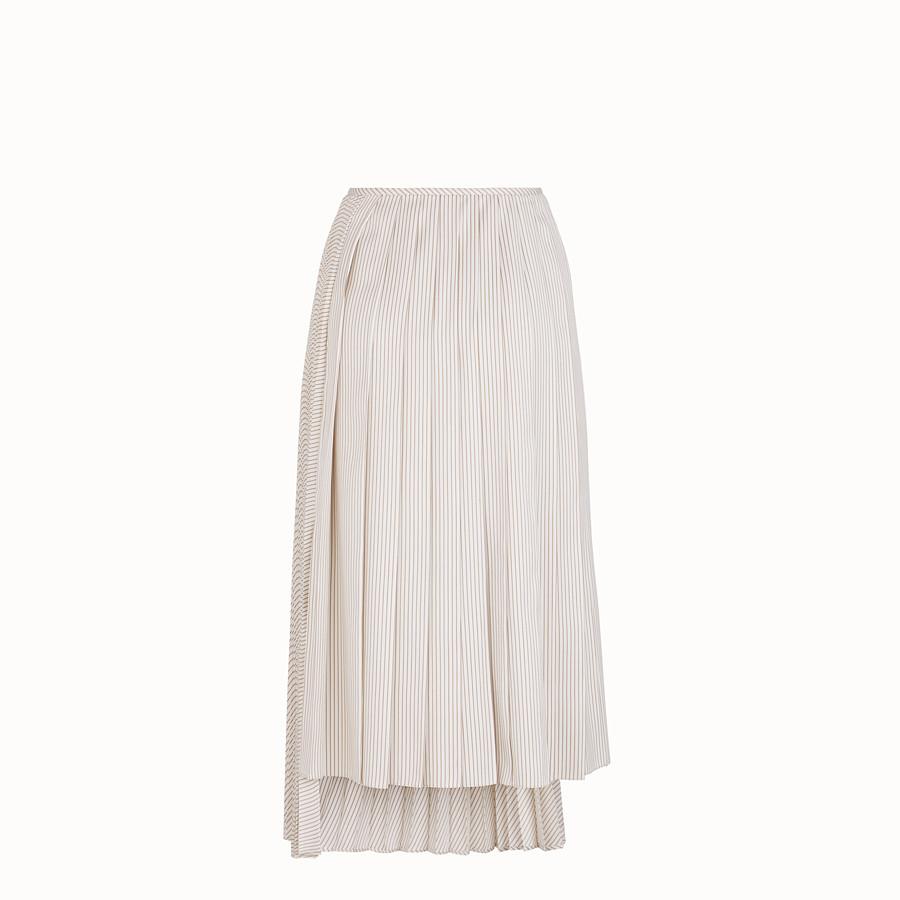 FENDI SKIRT - White satin skirt - view 2 detail