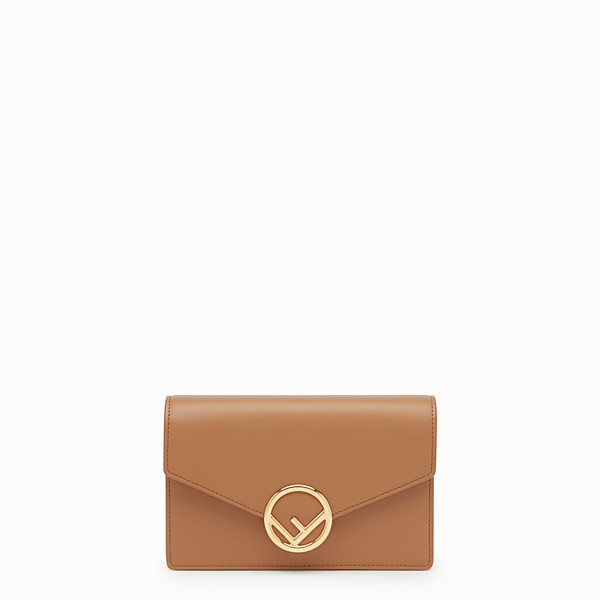 FENDI WALLET ON CHAIN - Brown leather mini-bag - view 1 small thumbnail