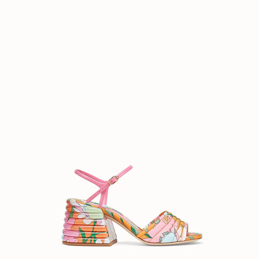 FENDI SLINGBACK - Multicolour cotton sandals - view 1 detail