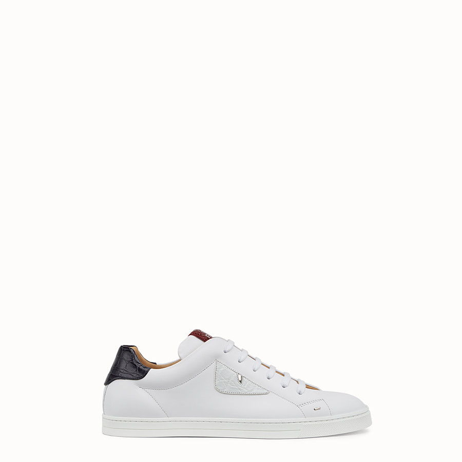 6cd4b898120 White leather low-tops - SNEAKERS