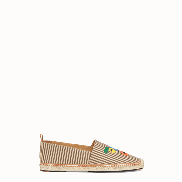 FENDI ESPADRILLES - Striped canvas espadrilles - view 1 small thumbnail