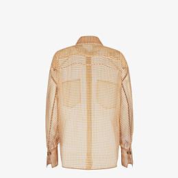FENDI SHIRT - Check organza blouse - view 2 thumbnail