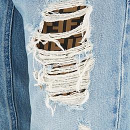 FENDI DENIM - Blue denim jeans - view 3 thumbnail