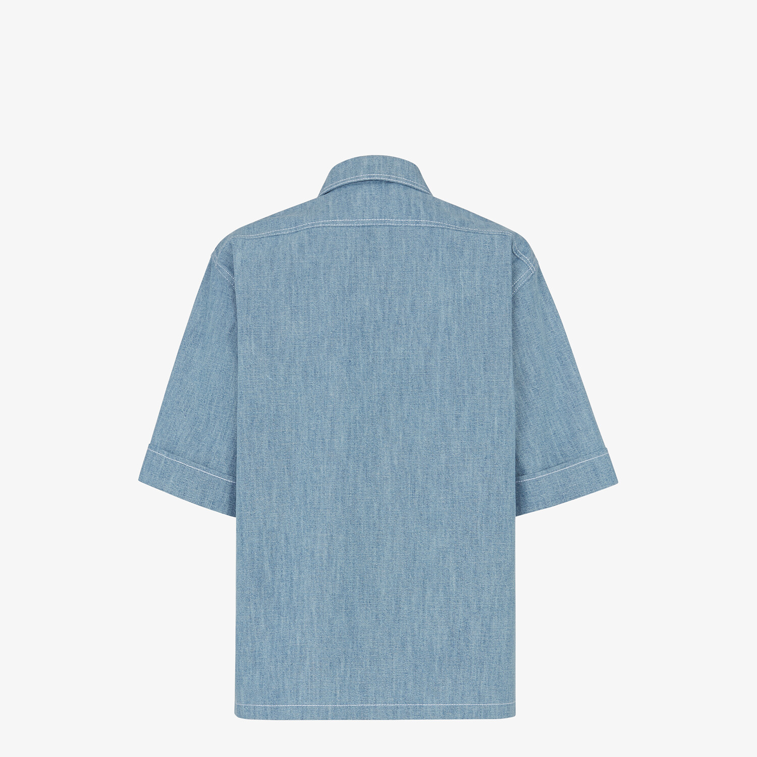 FENDI SHIRT - Light blue chambray shirt - view 2 detail