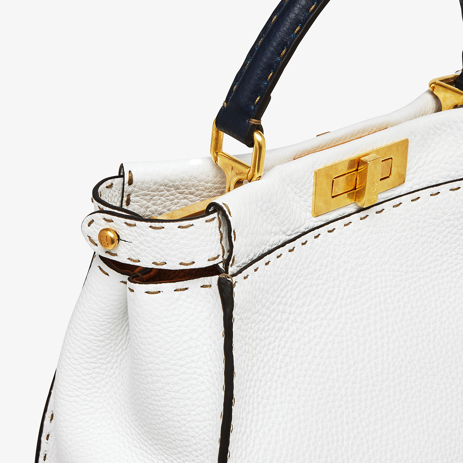 FENDI PEEKABOO ICONIC MEDIUM - White leather bag - view 6 detail