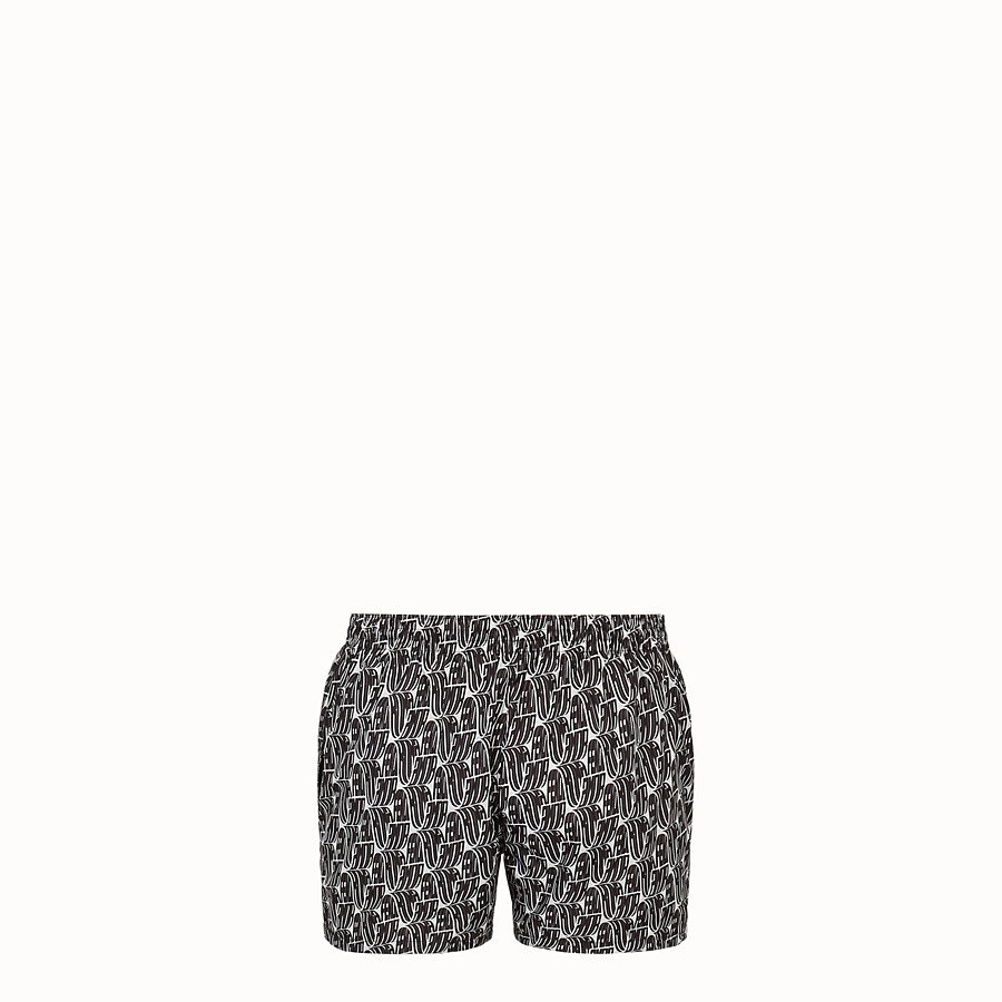 FENDI SWIM SHORTS - Fendi Roma Amor tech fabric shorts - view 2 detail